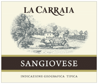 Carraia tradition labels SANGIOVESE